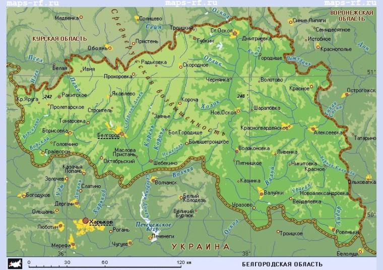 Подробная карта Белгородской области по районам на карте ...: http://rfmaps.ru/belgorodskaja-oblast/