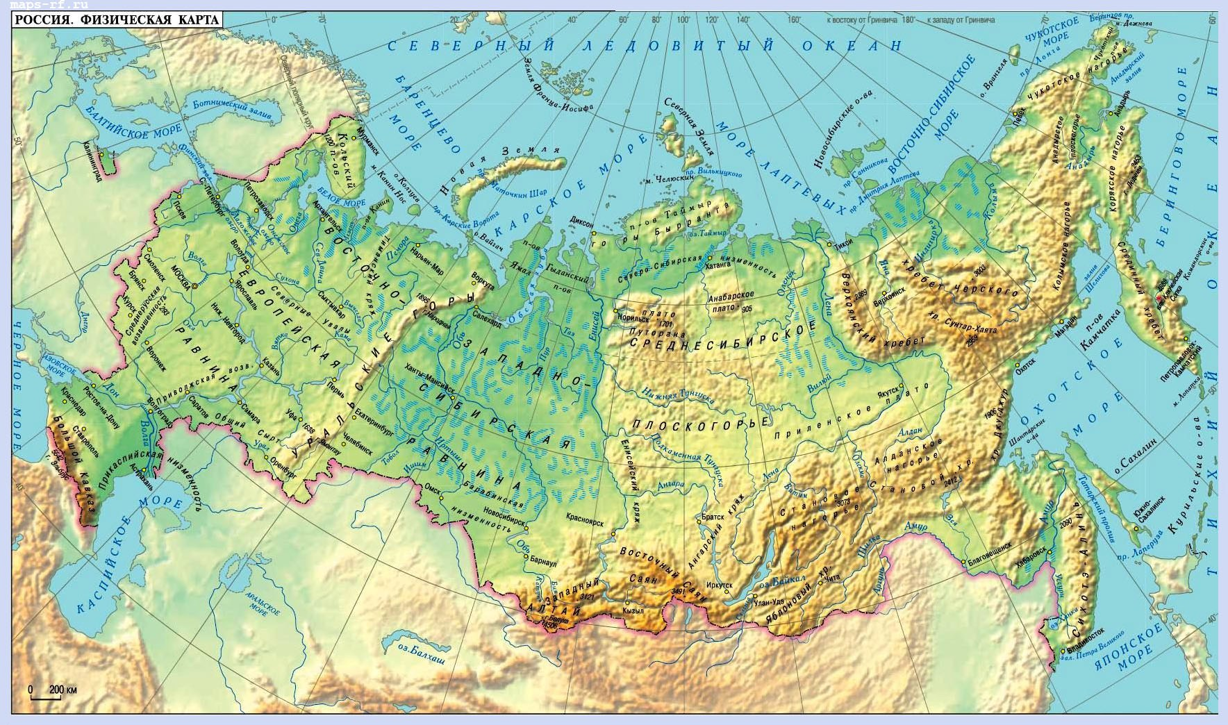 Карта России с городами подробная 2016 на RFMaps.ru: http://rfmaps.ru/karta-rossii-s-gorodami.php
