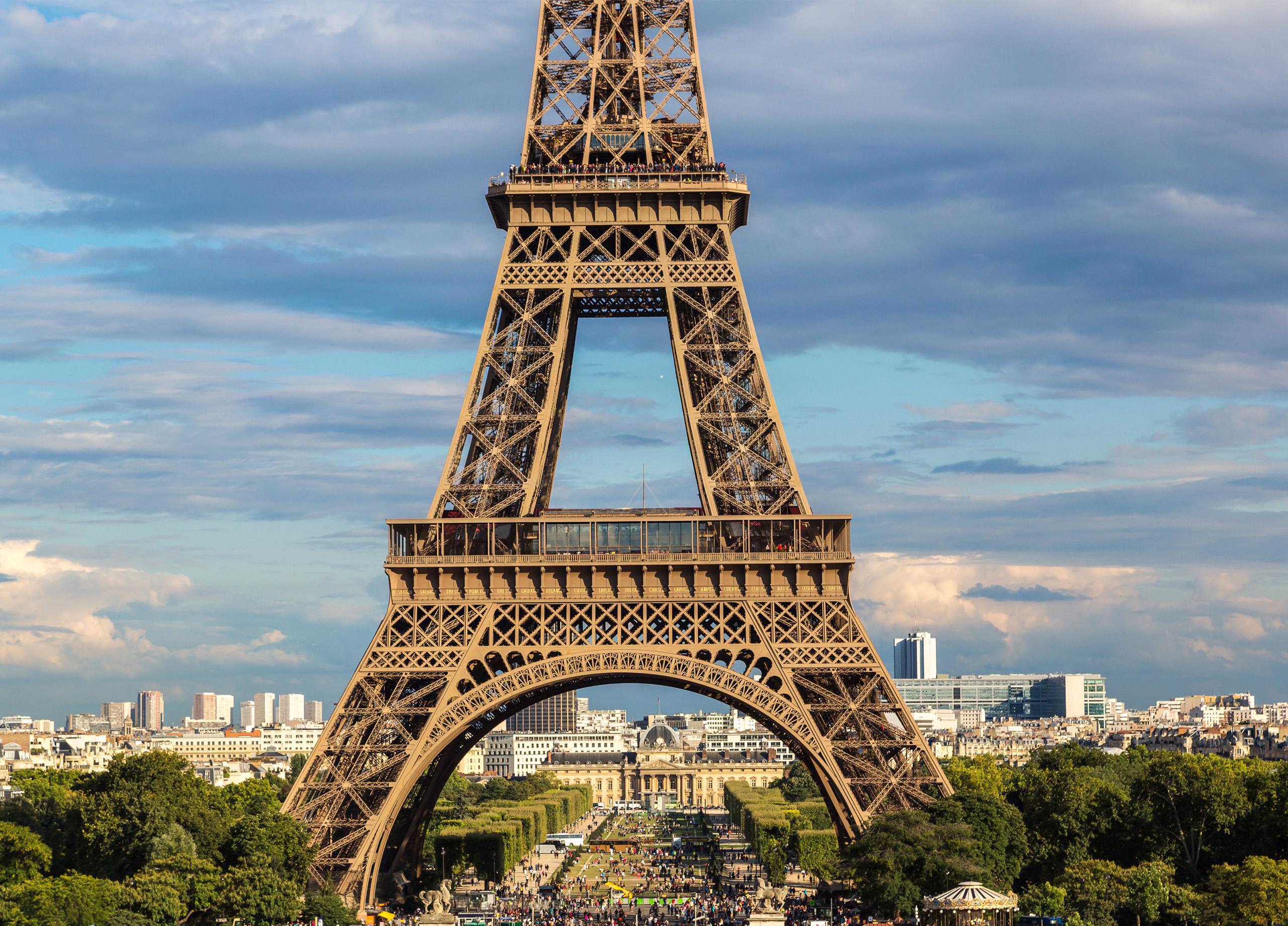 Эйфелева башня на карте Европы